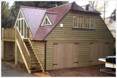 Luxury Garage - Oak Frame Style