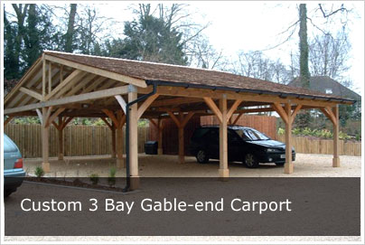 Carports | Oak Frame Carport Kit Style DIY